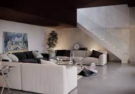 Painting Trends For Living Rooms White Staircase Couches Pillow Wall Clocks Painting Indoor Plant