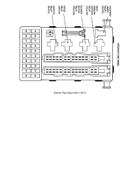 location of the blower motor relay in a 1997 ford contour fuse box graphic