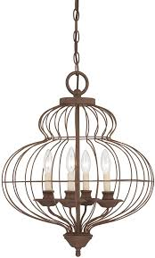 quoizel laila antique bronze 4 light birdcage chandelier