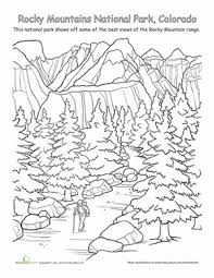 Small Picture Rocky Mountains National Park Worksheet Educationcom