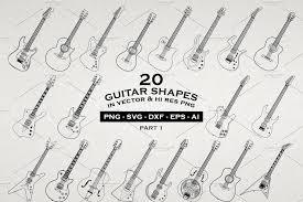 20 Guitar Illustrations Vector Png