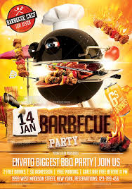 Barbecue Flyers Barbecue Party Flyer Template On Behance Party Flyer
