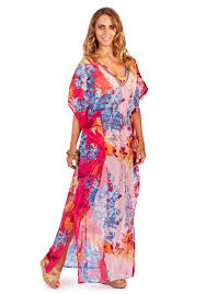 Womens Chiffon Kaftan Tunic Long Beach Cover Up Maxi Dress Ladies