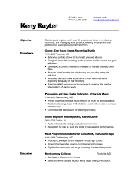 Qualified Audio Engineer CV Resume Template Example with Over 20 Years of  Experience