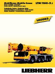 Liebherr Ltm 1160 Series Specifications Cranemarket