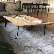 low hairpin coffee table legs