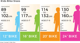 Bicycle Size Chart Kids Bike Sizes Kids Bicycle Kids Bike Sizes Kids Bike