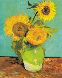 three sunflowers in a vase painting vincent van gogh three sunflowers in a vase art