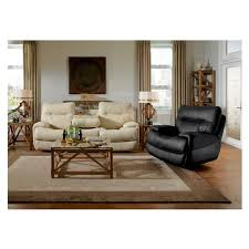 Evian Gray Power Motion Leather Recliner