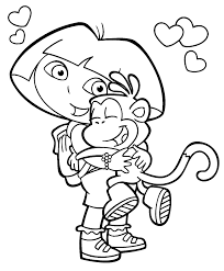 Dora the explorer coloring book. Dora Coloring Lots Of Dora Coloring Pages And Printables Cute Coloring Pages Dora Coloring Cartoon Coloring Pages