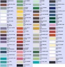 Krylon Outdoor Spaces Color Chart Spray Paint Color Choices Valspar Rustoleum And Krylon In