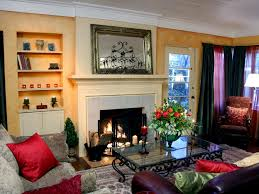 Tuscan Inspired Living Room Simple Decoration
