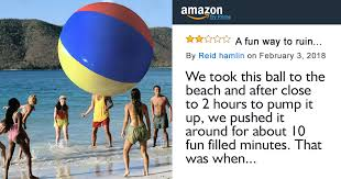 internet can t stop laughing at this disappointed customer s review of giant inflatable ball on amazon bored panda