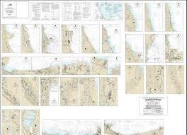 Lake Michigan Nautical Chart Noaa Nautical Chart 14926 Small Craft Book Chart Chicago And South Shore Of Lake Michigan Book Of 30 Charts