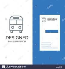 Auto Bus Deliver Logistic Transport Grey Logo Design And