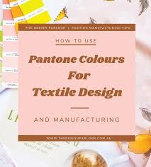 How To Use Pantone Colours For Textile Design
