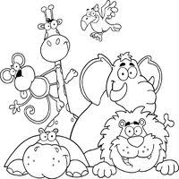 Small Picture Animals Coloring Pages Surfnetkids