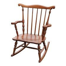 vintage child size colonial wood rocking chair chairish warm wooden pertaining to 5