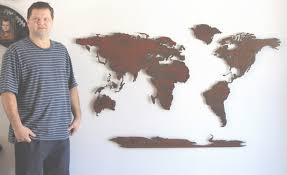 world map metal wall art 60 wide x 36 tall 5 with world map for wall