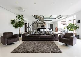 modern home interior furniture living. Living Room In Modern Home With Brown Decor Interior Furniture