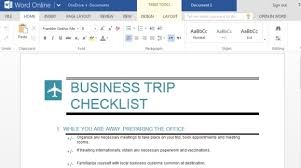 Microsoft Word Template Checklist Business Trip Checklist Maker For Microsoft Word