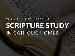 Activities That Support Catholic Scripture Study In Families