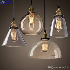 glass pendant lamps single chandelier simple styling indoor lighting retro industrial style lighting factory whole quality lighting modern pendant drop
