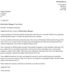 Technical Manager Cover Letter Horticulture Manager Cover Letter Example Icover Org Uk