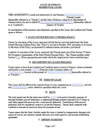 free lease agreement word doc employee housing agreement template free indiana residential lease