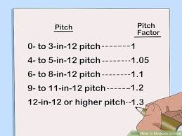 Pitch Factor Chart 3 Ways To Measure Gutters Wikihow