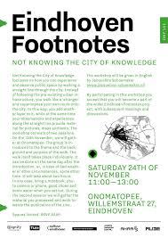 Eindhoven Footnotes Onomatopee