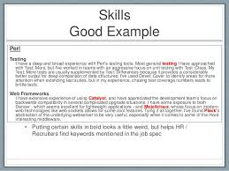 Things To Put Under Skills In Resume Resume Additional Skills