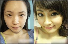 before and after photos of asian s with and without make up