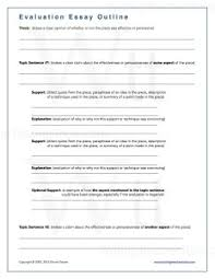 textual evaluation or analysis essay writing teacher tools evaluation essay outlinewm