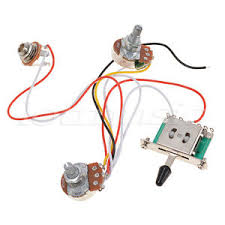 3 pickup guitar wiring harness prewired 1 volume 1 tone 500k pots image is loading 3 pickup guitar wiring harness prewired 1 volume