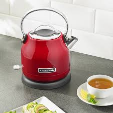 kitchenaid kek1222er 1 25 liter stainless steel empire red electric kettle 120v 1500w