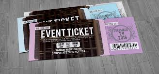 Concert Ticket Layout Beauteous Ticket Design 48 Creative Examples And Templates