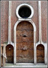 art nouveau door in ghent belgium photo by carlos josé martins re