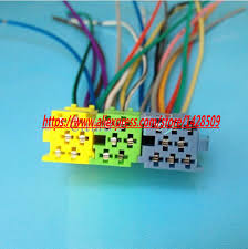 popular car radio wiring pin buy cheap car radio wiring pin lots universal iso radio wire harness 20 pin connector adapter plug kit automobile car cd aux for