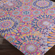 best home fabulous pink and blue area rug on bungalow rose kahina vintage distressed oriental