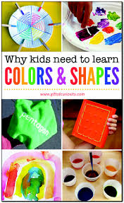 colors and shapes foundational skills for young children