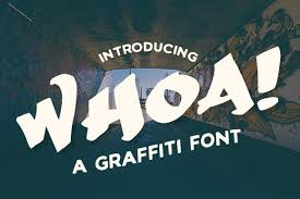 This font consists of thick alphabets. Whoa Font By Creative Fabrica Freebies Creative Fabrica In 2020 Free Graffiti Fonts Free Commercial Fonts Commercial Fonts