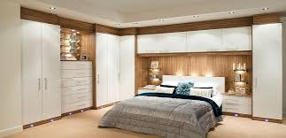 Small Picture Glossy Contemporary White Fitted Bedroom Furniture Built in