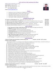 Process Safety Engineer Cover Letter Work Resume For High School