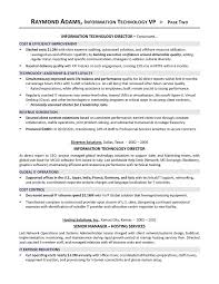 Vp Of It Resume It Director Resume Executive Resume Writer For