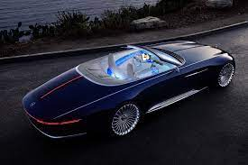 Mercedes Unwrapped A Stunning Electric Vehicle In Monterey California The Vision Mercedes Maybach 6 Cabriolet See It Here Maybach Bugatti Camaro