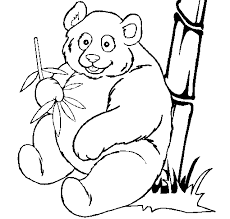 Small Picture Giant Panda coloring page Animals Town Animal color sheets