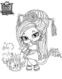 monster high baby coloring pages. Exellent Pages Monster High Baby Coloring Pages  Dessin De  Intended Pinterest