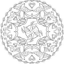 Colour By Numbers Flowers A Mandala Coloring Page With Birds And