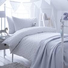 dotty blue cot bed duvet cover